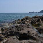 6月末、快晴の佐津海水浴場(海水浴シーズンまで間もなく!)