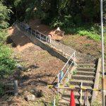 佐津海水浴場の百段階段、工事始まりました!!