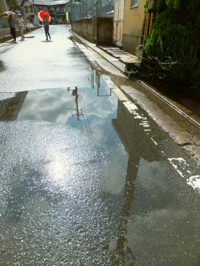 雨上がりの道3