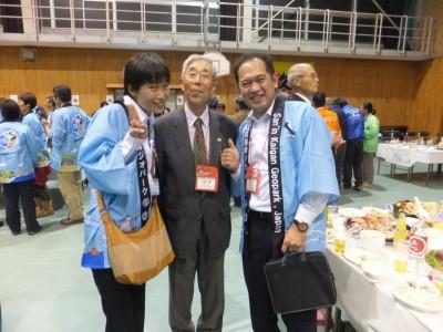 糸魚川ジオパークのガイド久保さん