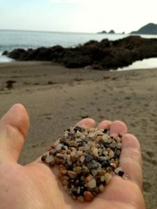 佐津ビーチの砂
