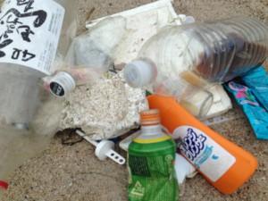 ゴミは川からのゴミ