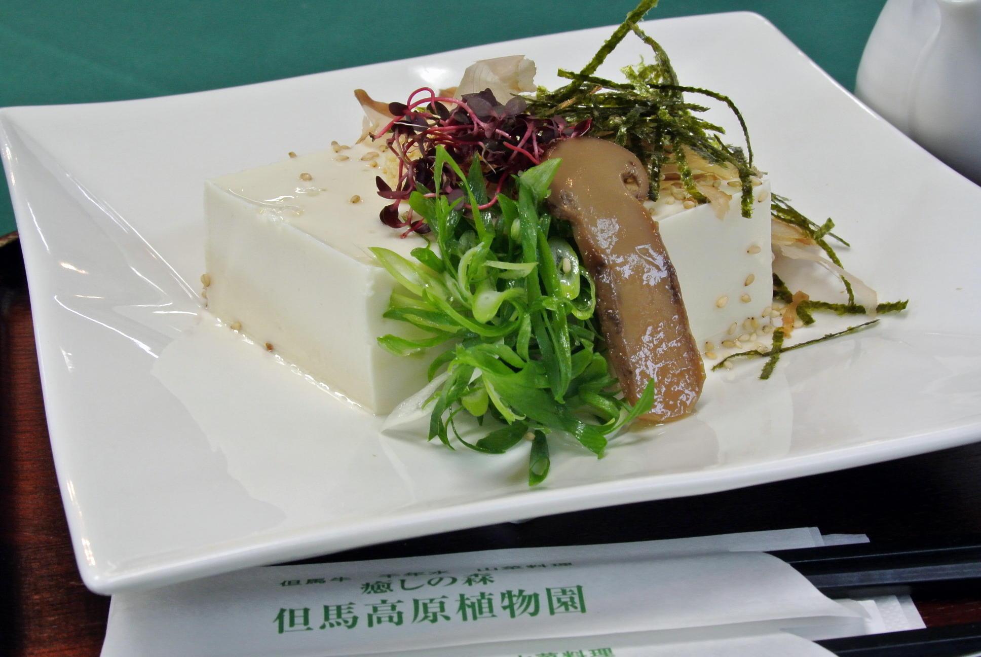 但馬高原植物園にあるレストランの『千年水豆腐』は絶対食べてみて!!!