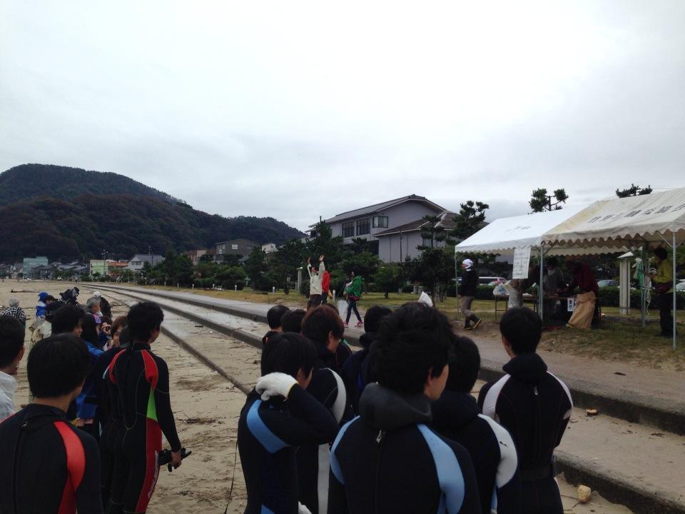 第9回海そうじプロジェクトIN竹野浜、無事終了しました!!