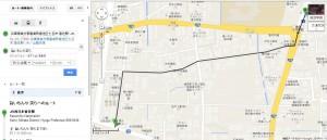 JR香住駅から笑らへのルート