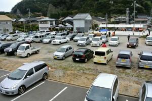 オープンガーデンフェスタ時の駐車場と受付
