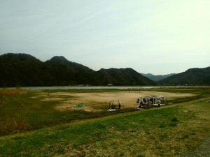円山川河川敷