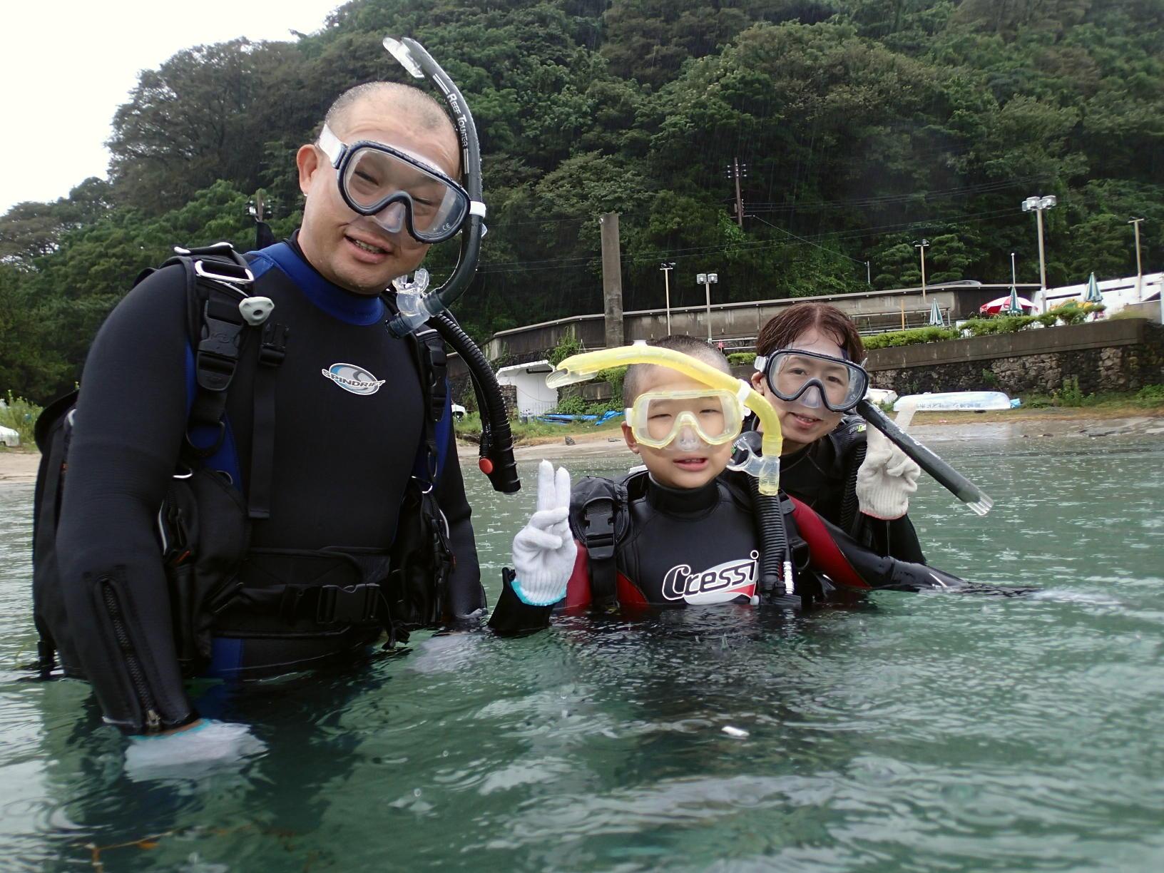 感謝☆お客様より写真をいただきました♪~親子体験ダイビング