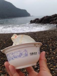 中国の朝がゆのカップのから