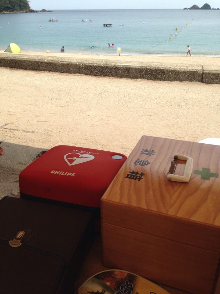 その海水浴場、AEDは常備されていますか?