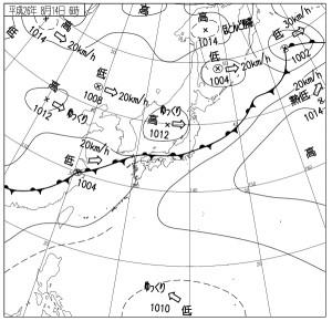 8月14日の天気図
