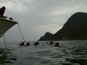 ダイビングボートエントリー