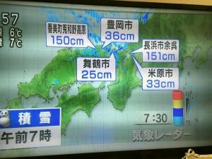 NHK天気予報より