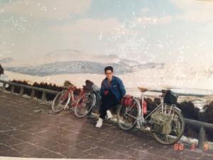 大学時代サイクリングにて阿蘇山