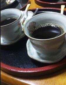 朝食後のコーヒー