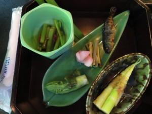 山菜料理その2のドローンショット