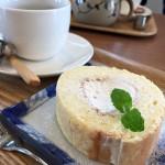 まめcafeさんでPM2時過ぎのカフェタイムにて豆腐ケーキをいただきました