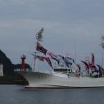 香住漁港にて新造底引き網漁船「鶴松丸」のお披露目式に行ってきました!