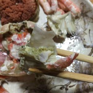 セコガニお腹の部分