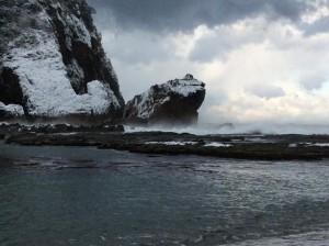 冬のかえる島