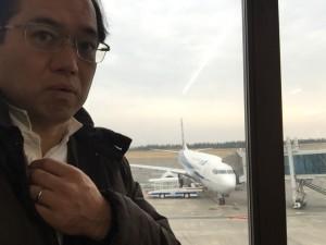 鳥取空港にて
