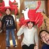 春休み特別企画☆カニのバルーンハット、大好評です!!