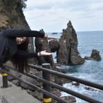 面白写真を竹野の「はさかり岩」でもやってみた♪