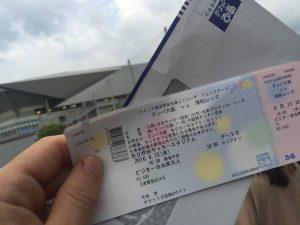 サッカーチケットと吹田スタジアム