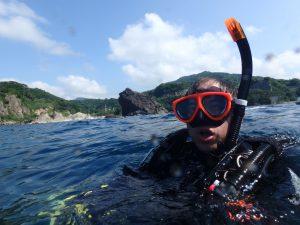 かえる島の裏でボートダイビング