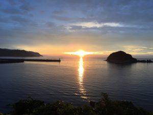 今子浦からの夕陽