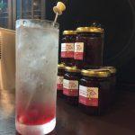 """本日オープンBar""""MINAMI""""で但東名物薔薇ジャム入りのお酒を飲んでみて!"""