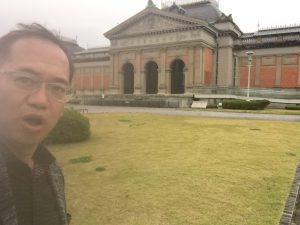 京都国立博物館にて