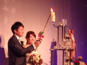 結婚式の二人