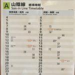 JR山陰本線は1時間から2時間に1本しか列車は走っていません!(城崎温泉以西)