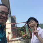 余部鉄橋空の駅へのエレベーター「余部クリスタルタワー」建設中です!