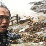 台風21号の爪痕~佐津海水浴場のスロープが大変なことに!!