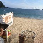 快晴&猛暑なれど佐津海水浴場は日陰に入れば快適な1日でした♪