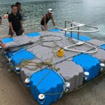 8月19日予定だった佐津海水浴場のイカダの陸揚げを昨日急きょ行いました!!