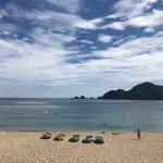 7月下旬から8月上旬は日本海が最も穏やかで美しい時期です