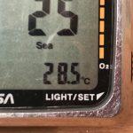 日本海、山陰地方の現在海水温は海水浴の適温28度です♪