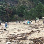 松葉ガニ解禁を前に、佐津海水浴場も海岸清掃いたしました!