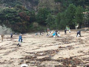 佐津海岸清掃