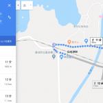 JR佐津駅から民宿かどや(佐津集落)へのGoogle マップの検索ルートがこれまで間違って表示されていました!