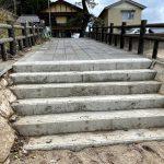 佐津海水浴場東側のスロープが改修されました!