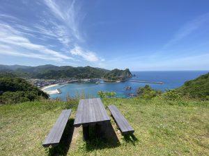 城山園地のベンチ