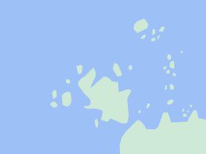Googleマップで見た貝殻島