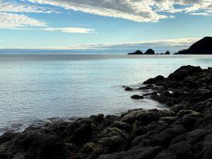 佐津浜からみた貝殻島