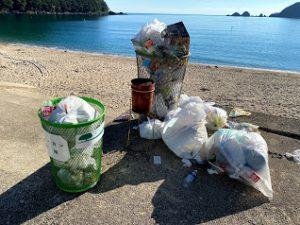 海水浴場で出るゴミ