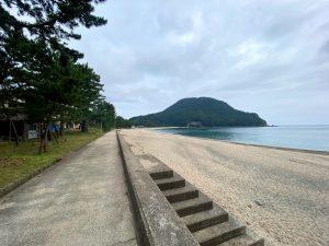 佐津海水浴場の遊歩道