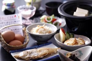 民宿かどやの朝食